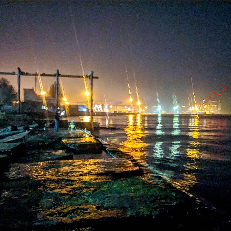 Ночное Море последние дни Зимы 2021