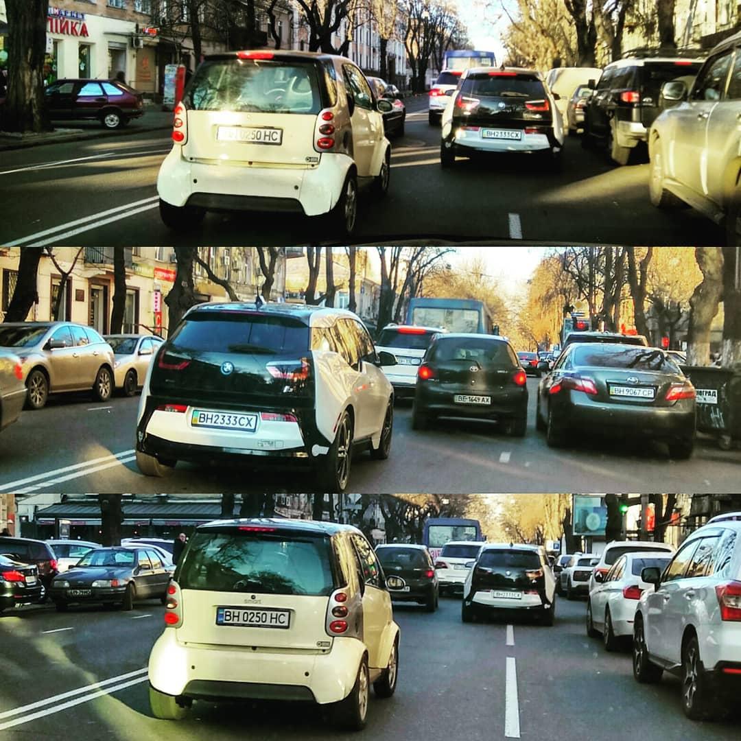 Компактный Авто в Одессе? Пробки в центре ОдессыМамы - НГ.....в ожидании можно увидеть несколько разных поколений: 2005-2010-2015 г.