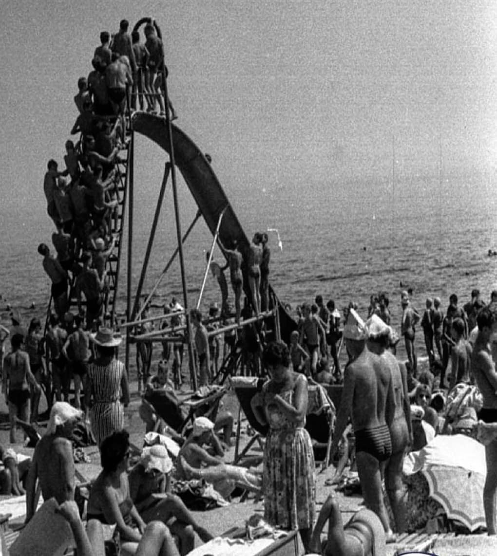 Аквапарк середина прошлого Века...1965...Первая горка в Одессе...