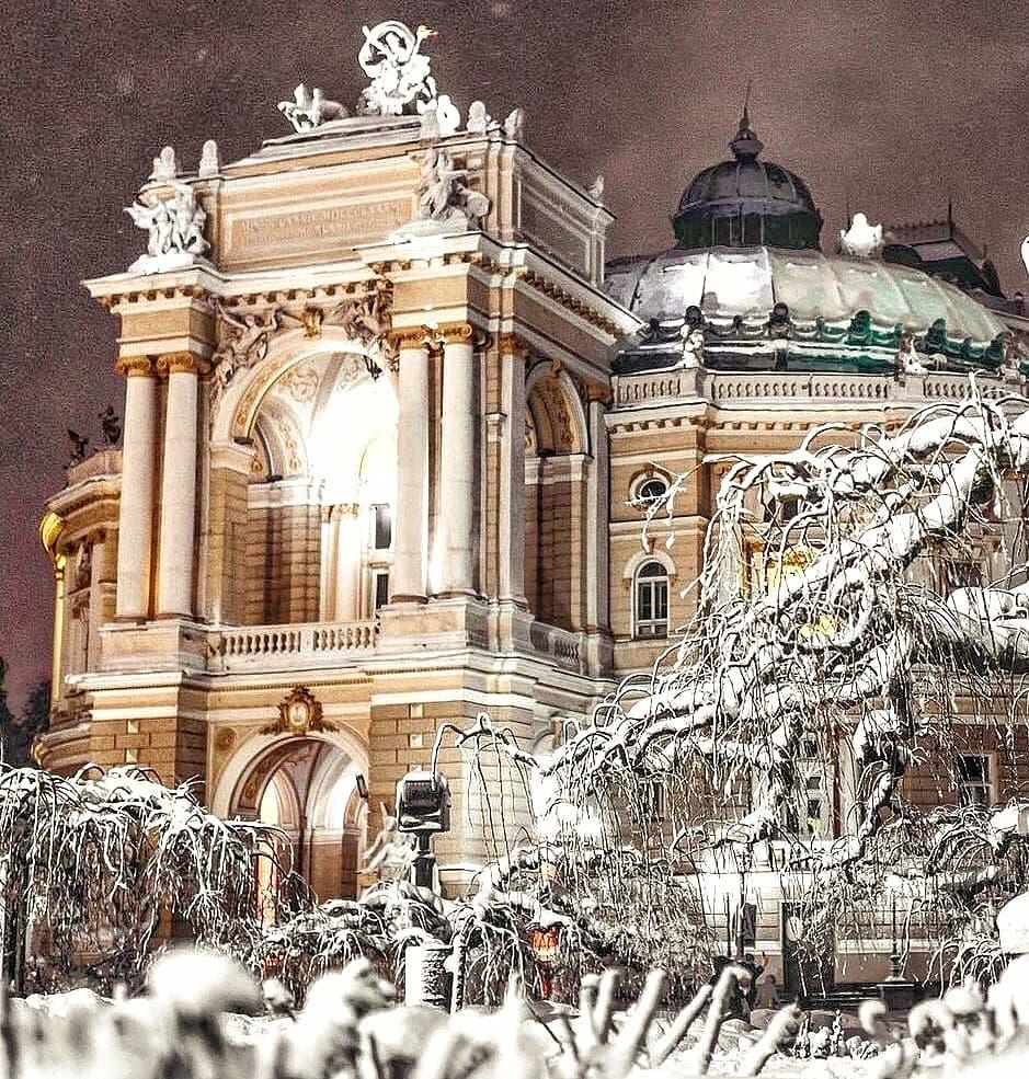 Снежный Оперный - как в сказке...